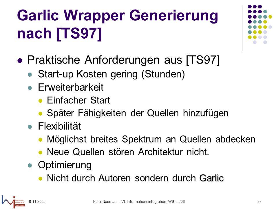 Garlic Wrapper Generierung nach [TS97]